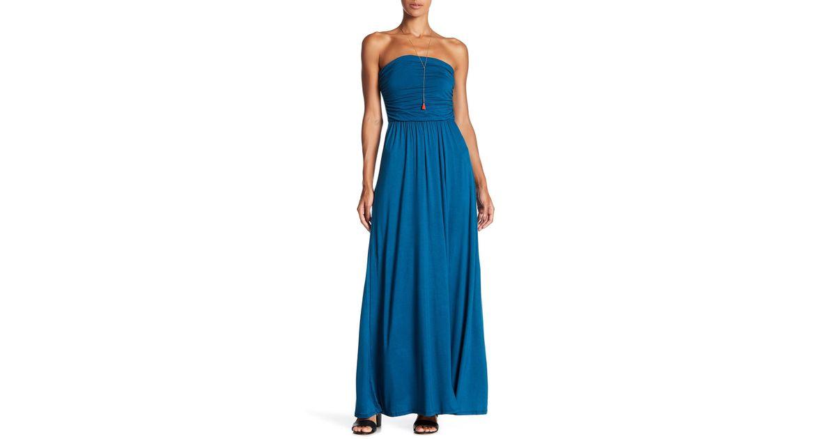 e4181d0f63c Lyst - West Kei Strapless Maxi Dress in Blue