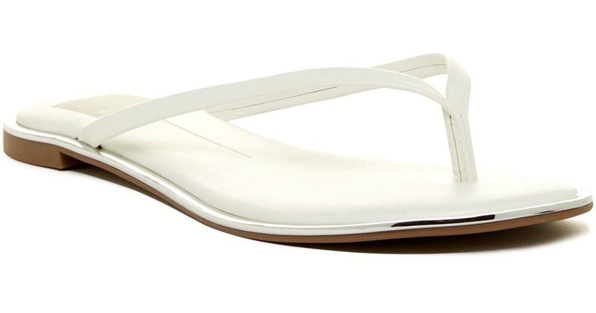 Dolce Vita Dawn Thong Sandal in White
