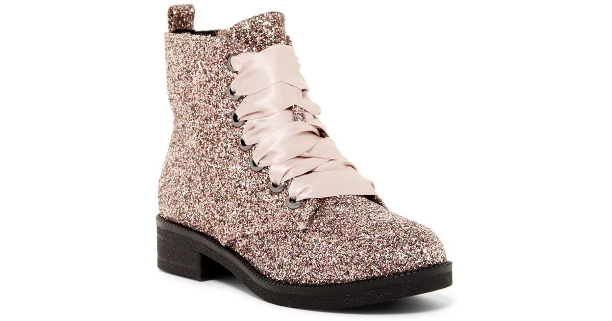 dirty laundry glitter boots