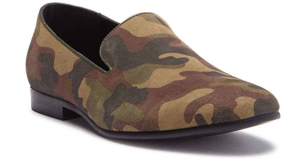 Kenneth Cole Reaction Men/'s Green Trophy CAMO Loafer Shoes 7.5M