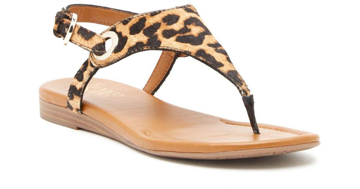 Franco Sarto Goldy Leather Sandal V4g0Yzy