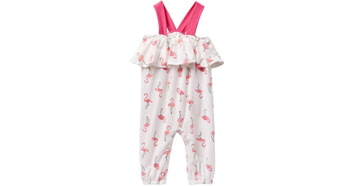 f141f18ece4d Lyst - Jessica Simpson Flamingo Print Sleeveless Romper (baby Girls) in Pink