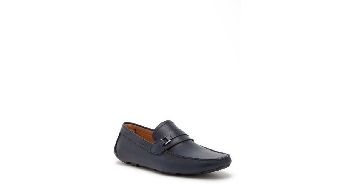 d1e258fbf11 Lyst - Magnanni Rocha Bit Leather Loafer in Blue for Men