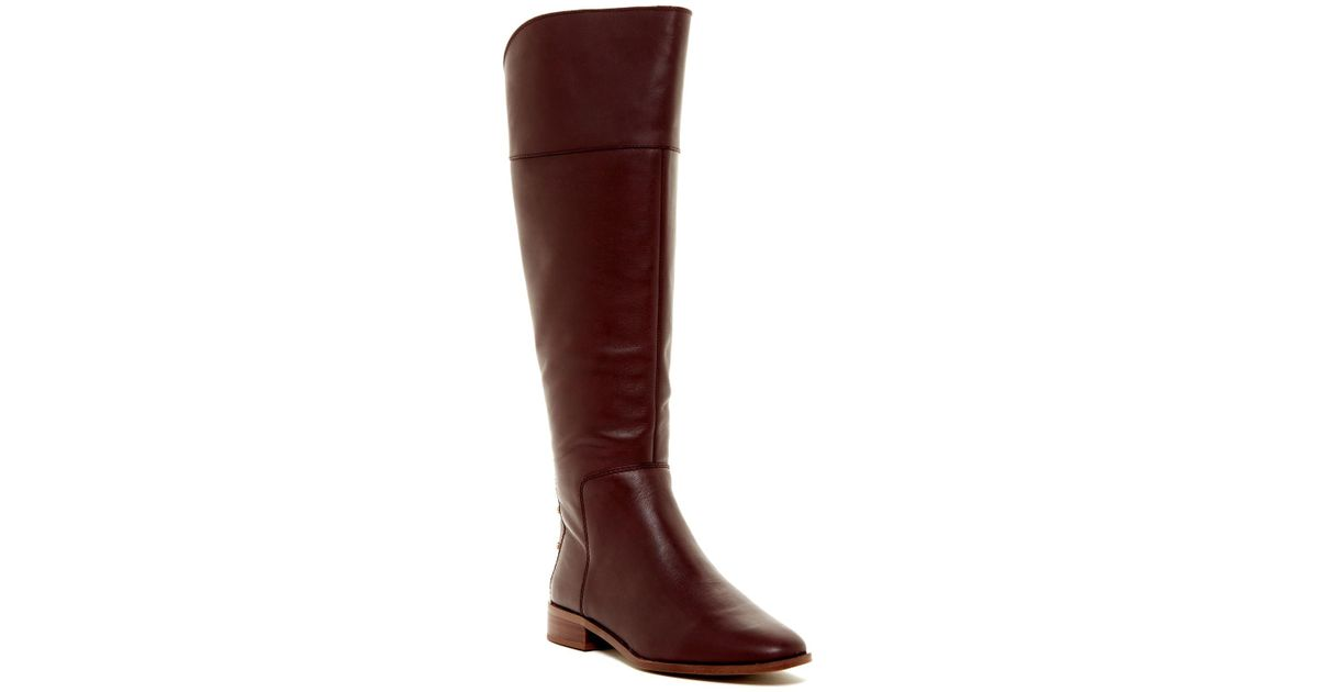 60e95c364acd Lyst - Franco Sarto Roselle Leather High Boot