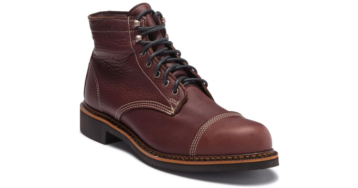 b7caea0a1c7 Wolverine Brown Jensen Cap Toe Boot (men) for men