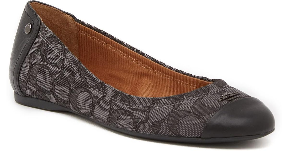 COACH Leather Chelsea Slip-on Flat in