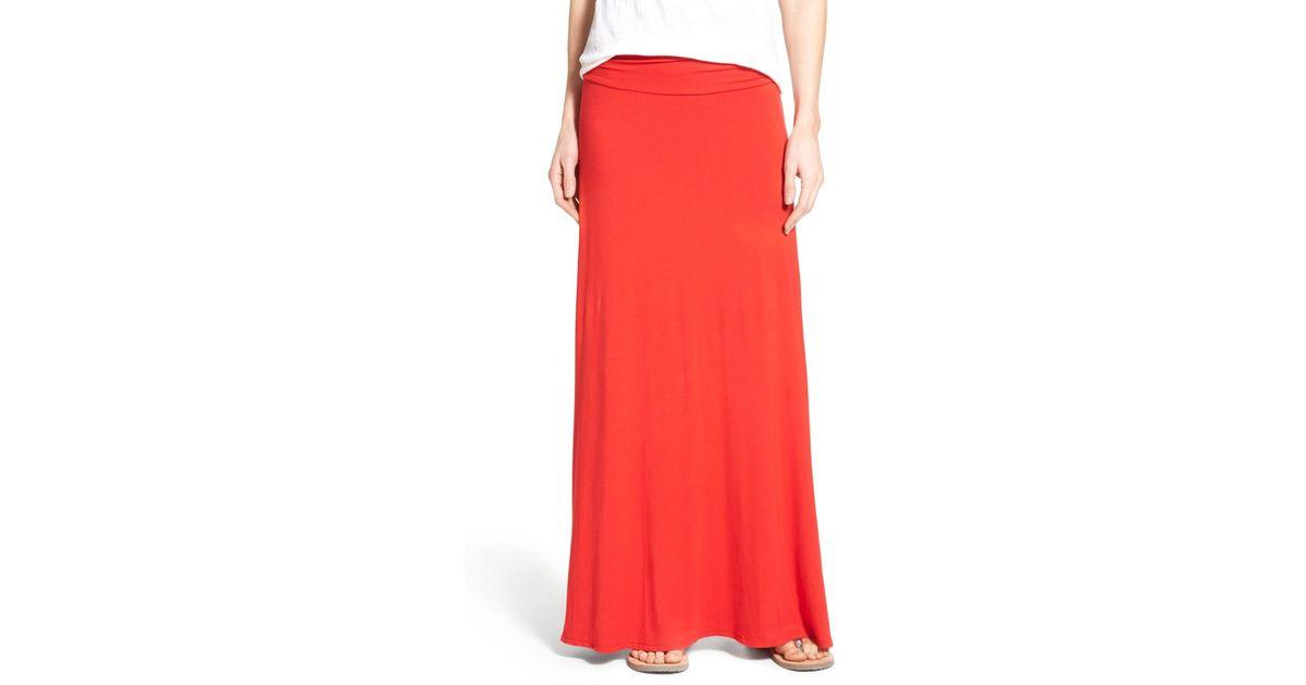 d6194c88bc Bobeau Ruched Waist Side Slit Maxi Skirt (regular & Petite) - Lyst