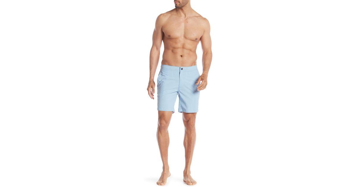 b5b9c4393e Onia Calder Swim Trunks in Blue for Men - Lyst
