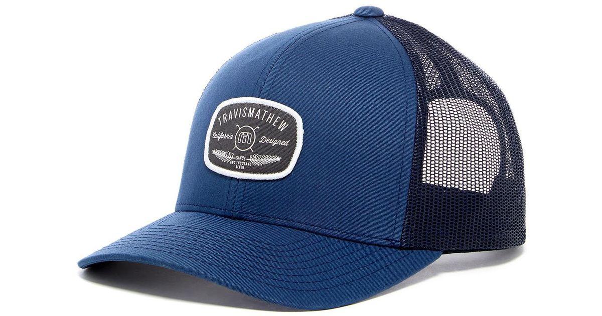 Lyst - Travis Mathew Brockelman Snapback Hat in Blue for Men f8a621547521