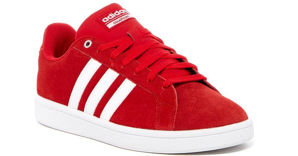 Adidas Red Cloudfoam Advantage Sneaker for men