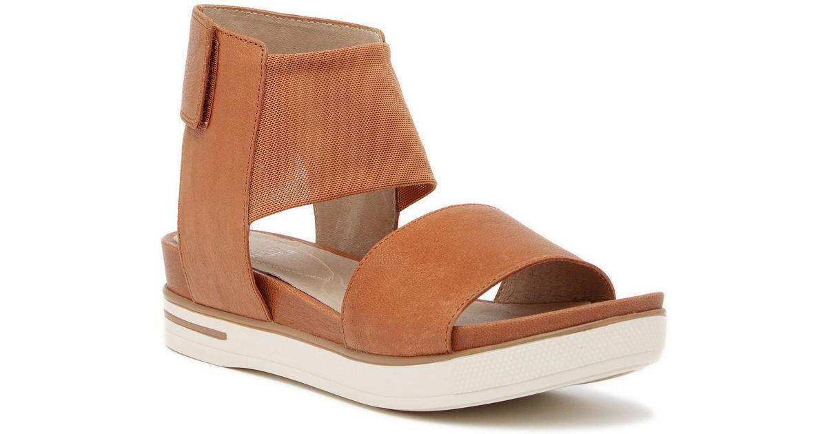 2155a1fd9130 Lyst - Eileen Fisher Spree Platform Sport Wedge Sandal in Brown
