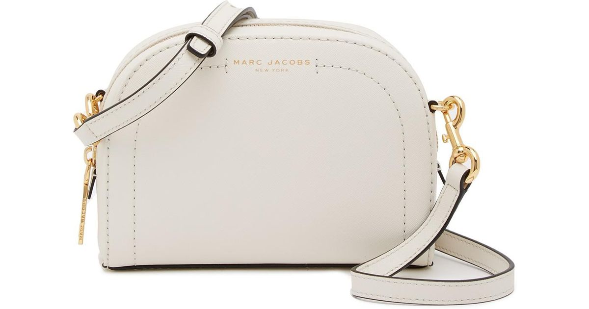 9c8548cdae878 Lyst - Marc Jacobs Playback Leather Crossbody Bag in White