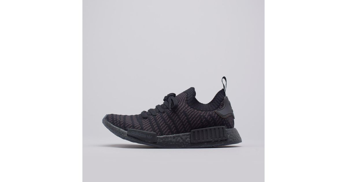 info for 90cbf faf9d adidas Nmd R1 Stlt Primeknit In Triple Black in Black for Men - Lyst