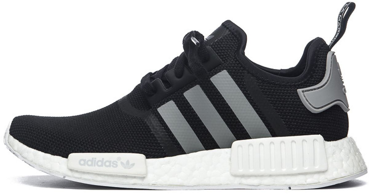 uk availability 9d0f5 45c13 spain lyst adidas originals nmd r1 in core black solid grey white for men  71ed7 bfa1c