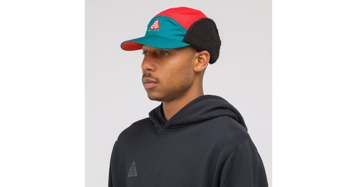 new product 699e7 5bf7f Nike Acg Tailwind Sherpa Hat In Teal red in Blue for Men - Lyst