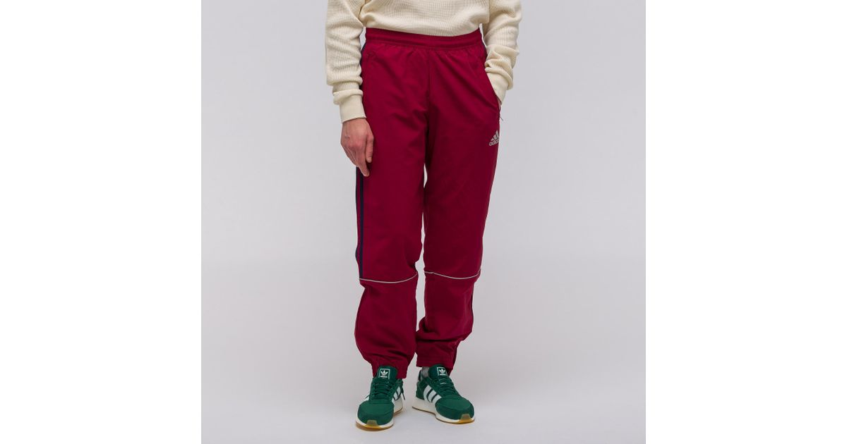 Gosha Rubchinskiy Red X Adidas Track Pant In Burgundy for men
