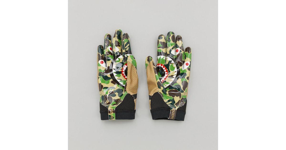 vasta selezione di vendita calda genuina acquisto economico Adidas X Bape Adizero 8.0 Gloves In Camo Multicolor for men