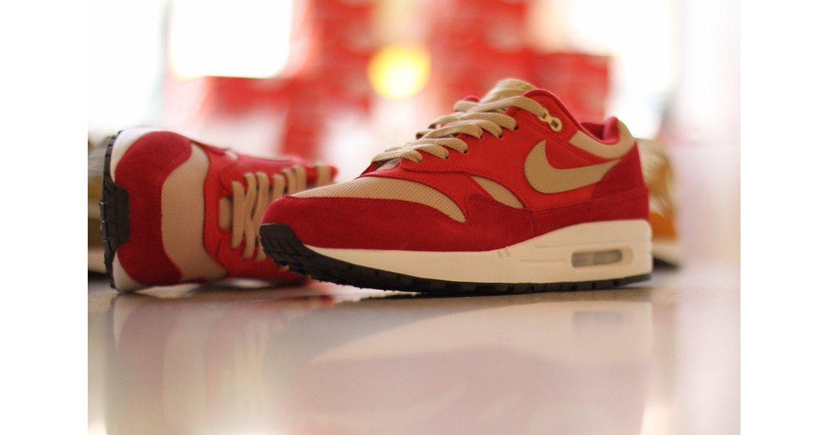 best sneakers b47ce 5b953 Lyst - Nike Air Max 1 Premium Retro - Red Curry in Red for M