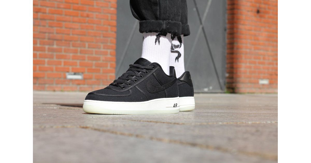 56f4405b17322c Nike Air Force 1 Low Retro Qs Canvas in Black for Men - Lyst