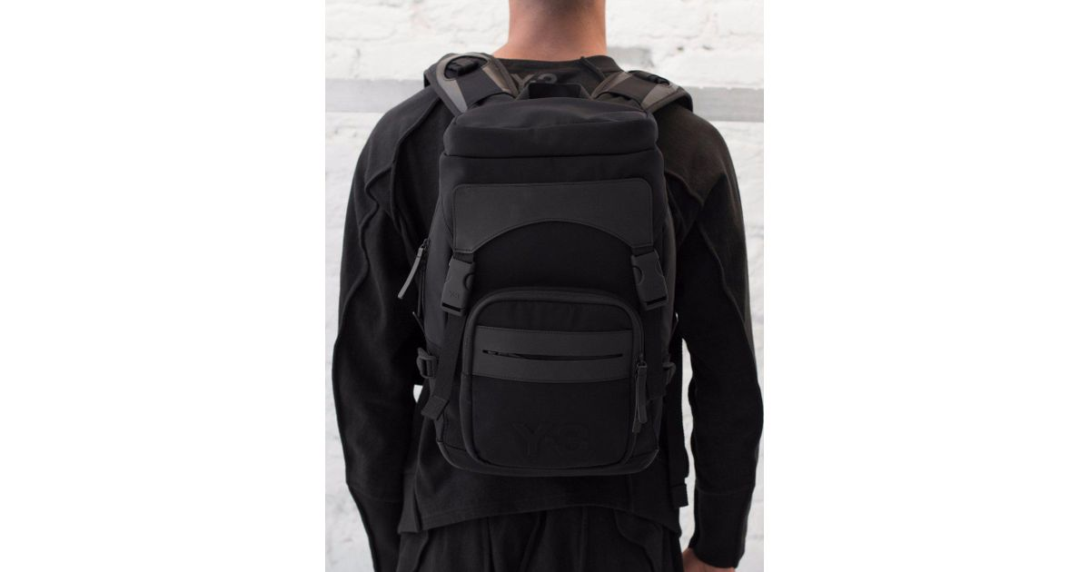 Y-3 Ultratech S Backpack in Black for Men - Lyst e7c18ac2f3dc7