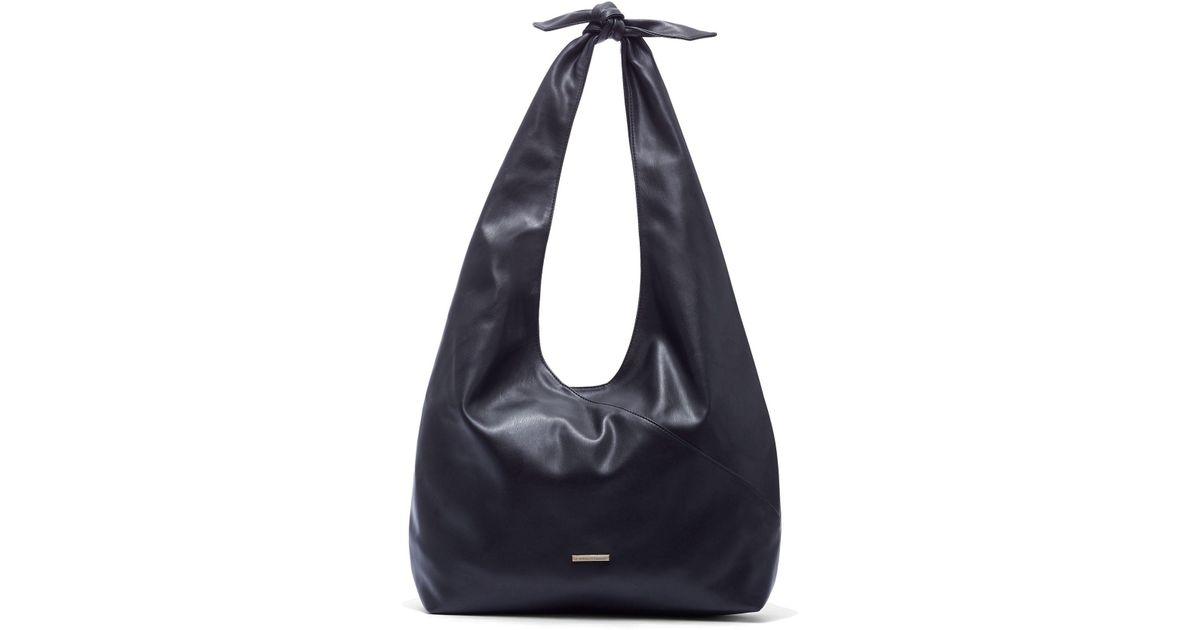 New York Company Black Knot Detail Hobo Tote Bag