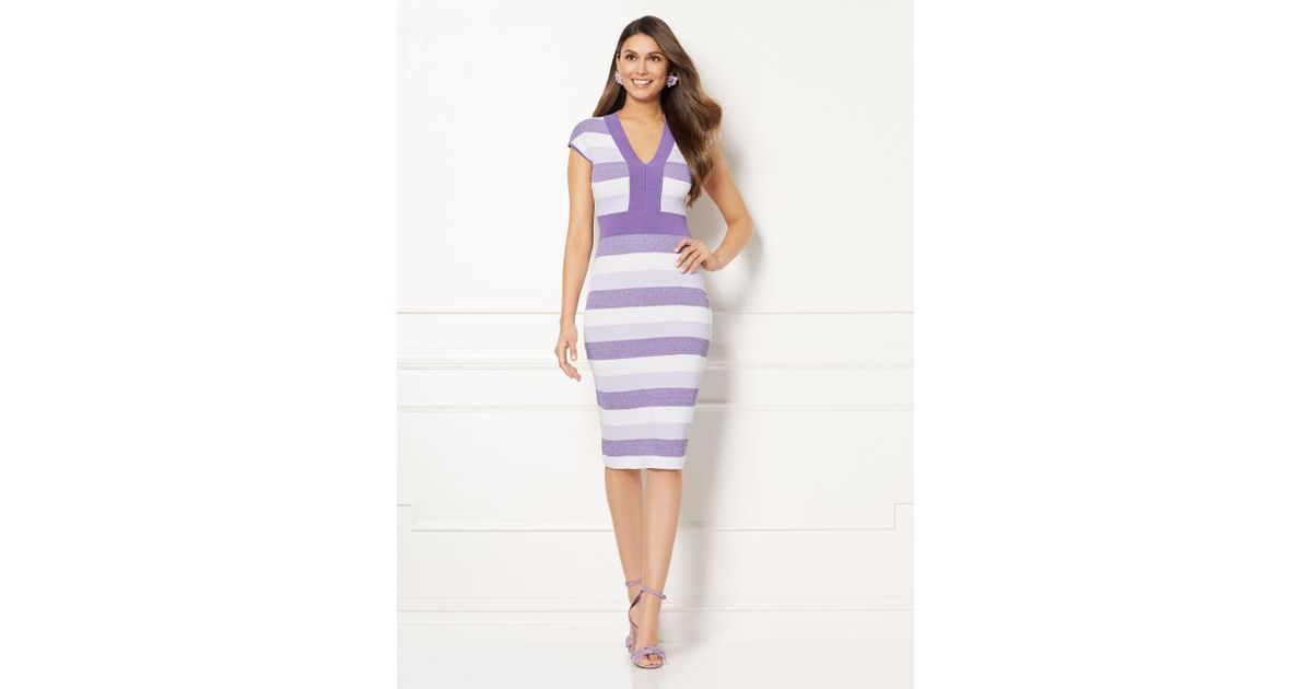 58c98c7414a New York   Company Eva Mendes Collection - Francisca Sweater Dress in  Purple - Lyst