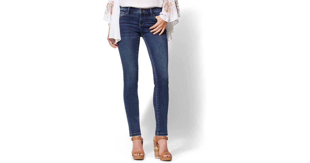 bed7ab3ec61 Lyst - New York & Company Legging- Ny&c Runway - Super Stretch - Soho Jeans  in Blue