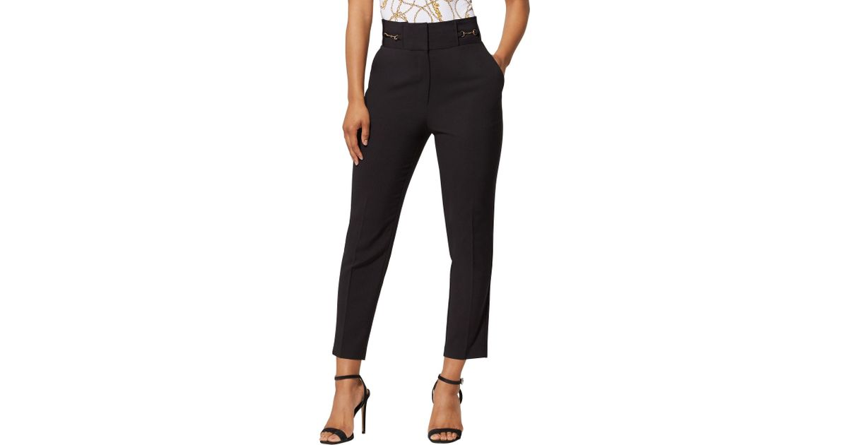 e8a27bdfc2d614 New York & Company Hardware-accent Ankle Pant - All-season Stretch - 7th  Avenue in Black - Lyst