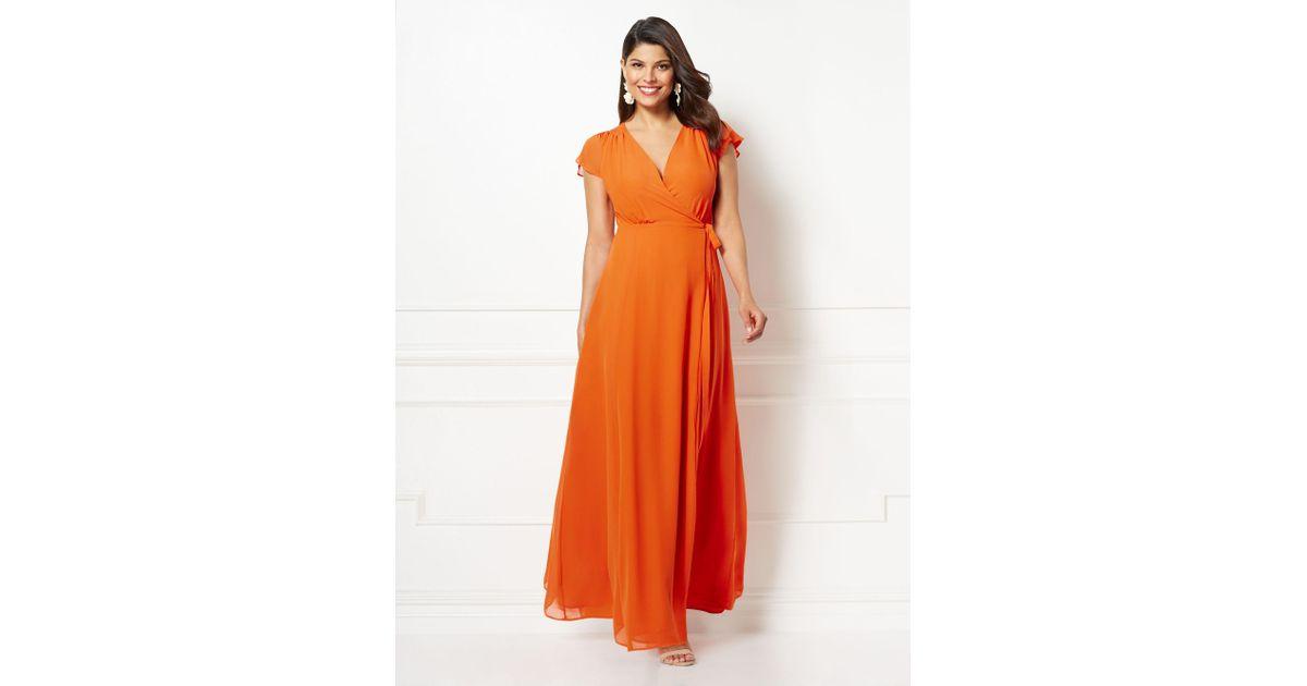 Lyst - New York & Company Eva Mendes Collection - Allison Maxi Dress ...