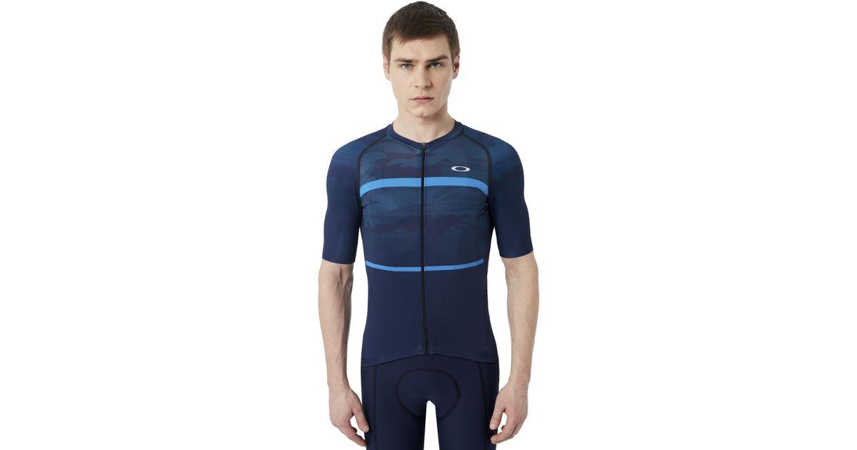 Lyst - Oakley Jawbreaker Road Jersey in Blue for Men 83d701a31