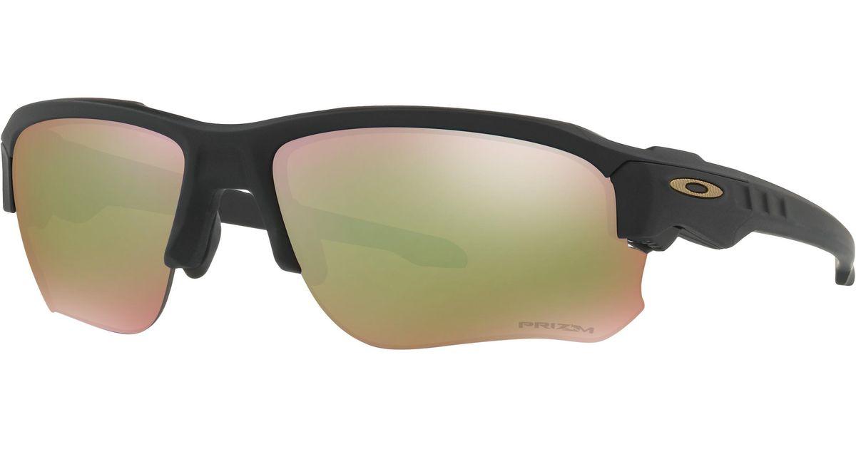 dbe8c9863fb Lyst - Oakley Speed Jackettm Prizmtm Shallow Water Polarized Standard Issue  in Black for Men