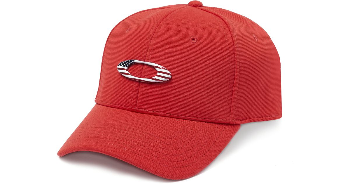 Lyst - Oakley Tincan Hat in Red for Men 45505ab71f74