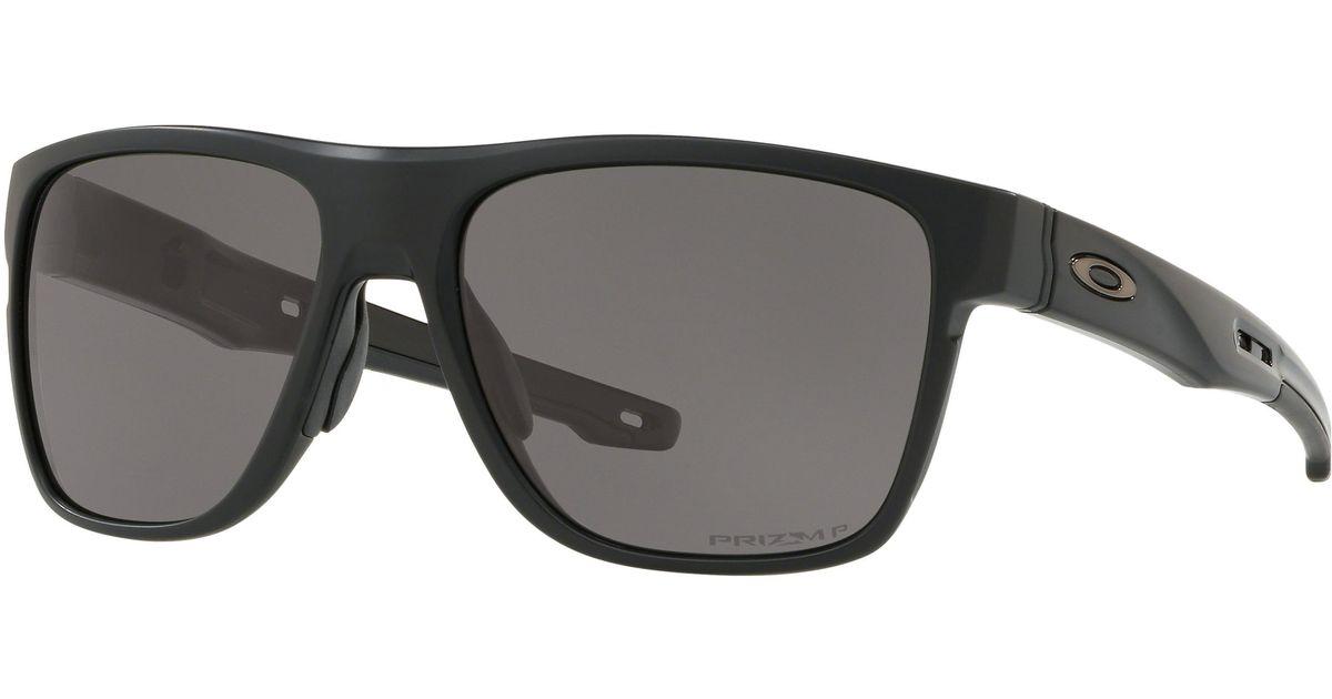 Oakley Crossrange Round Sunglasses - Prizm Black Lens