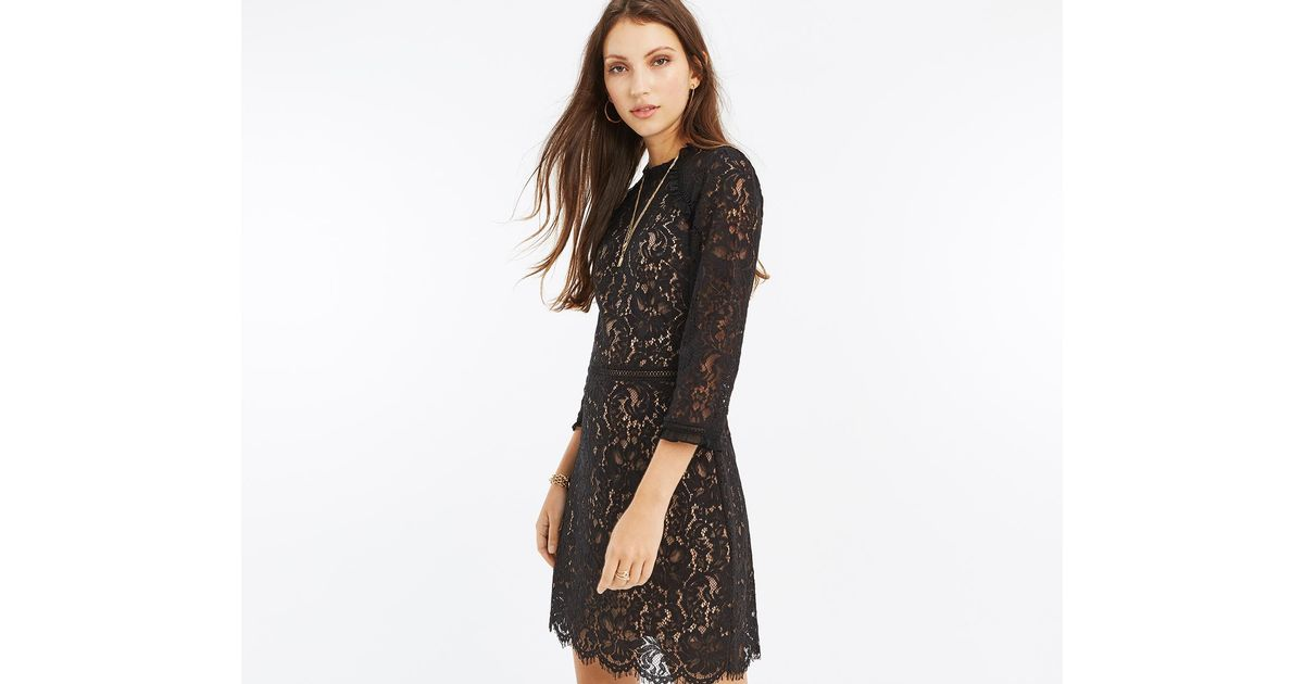 2f2a53caf49e Oasis Prarie Lace Dress in Black - Lyst
