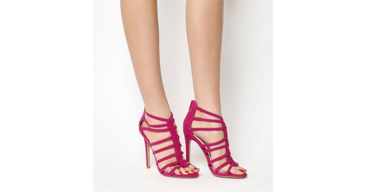 f2230feee7d4f0 Lyst - Office Adder Plait Strap Single Sole in Pink