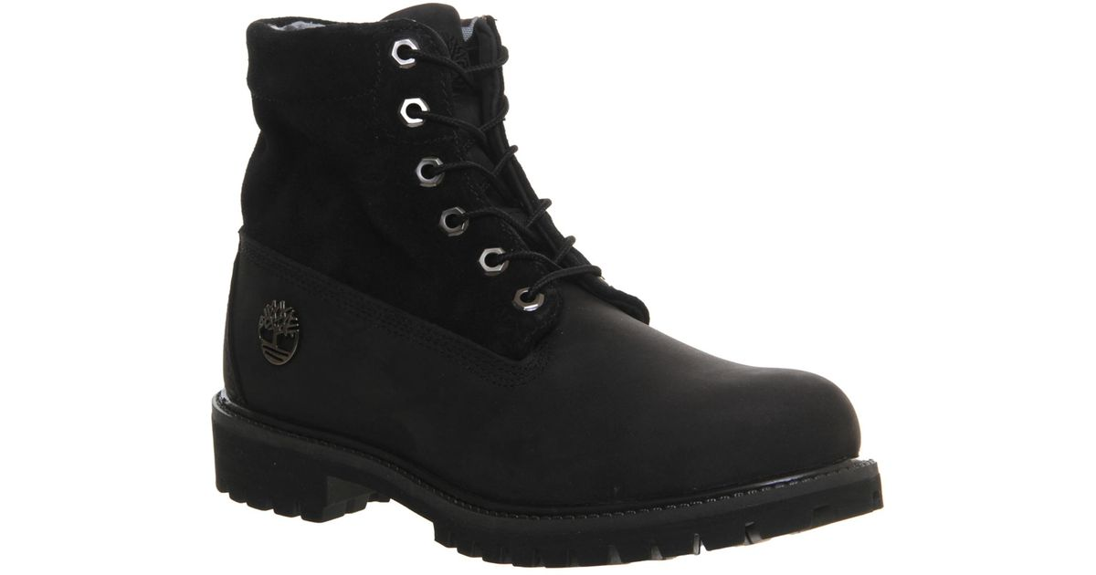 Lyst - Timberland Roll Top Boots in Black for Men 595ea8a650f