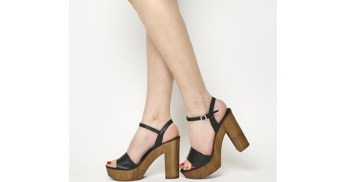 office black platform sandals