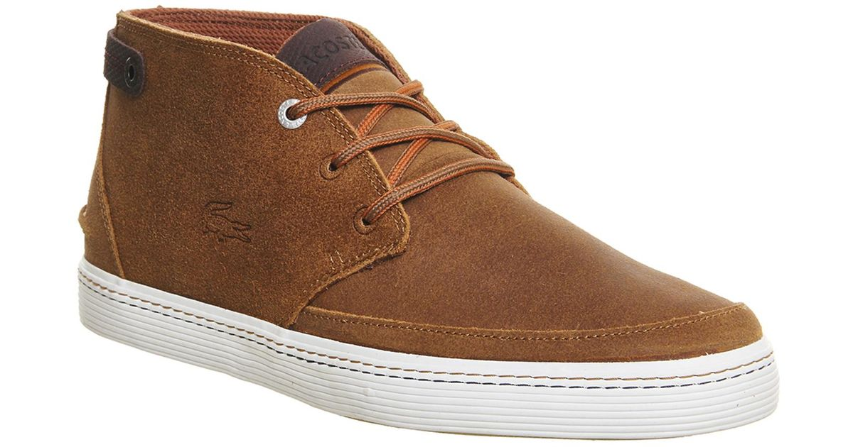 7db679b1e677d4 Lyst - Lacoste Clavel Chukka Boots in Brown for Men