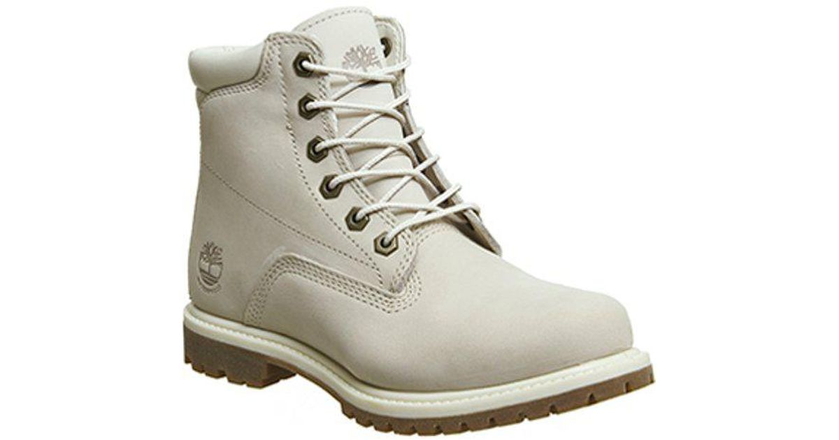 Timberland White Waterville 6 Inch Boots