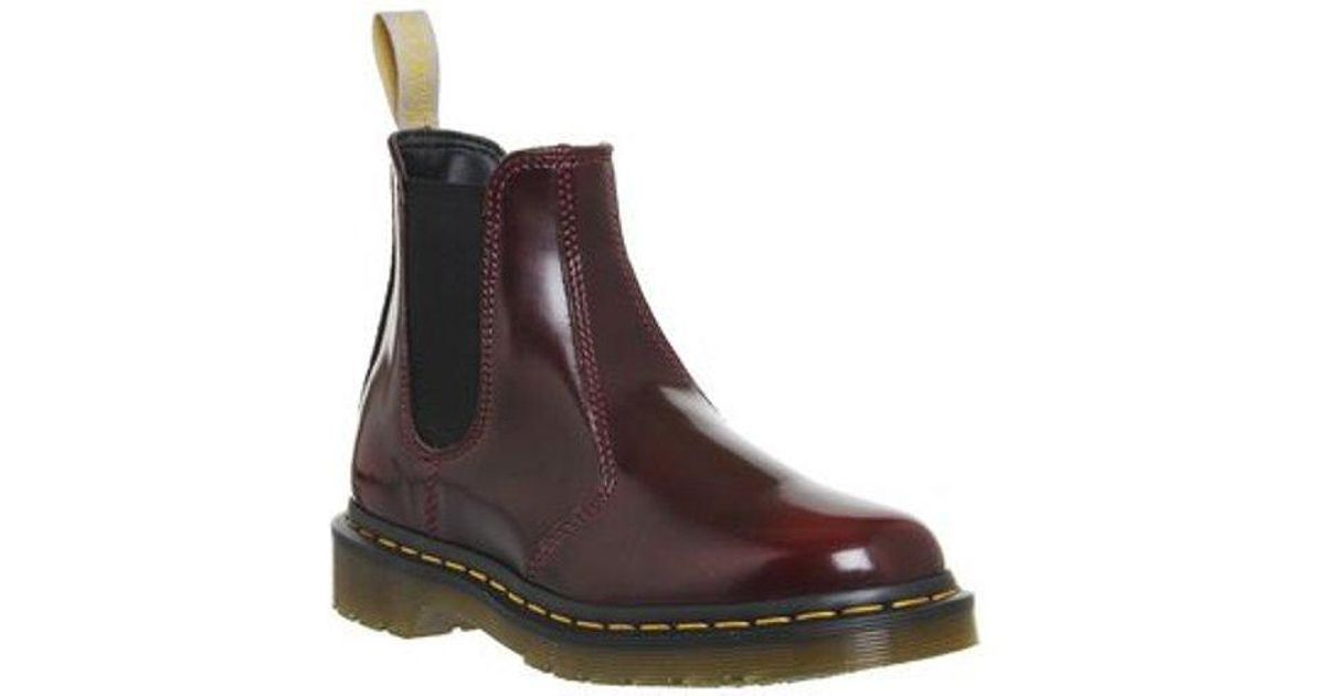 3927c0e0366 Dr. Martens Red Vegan 2976 Chelsea Boot