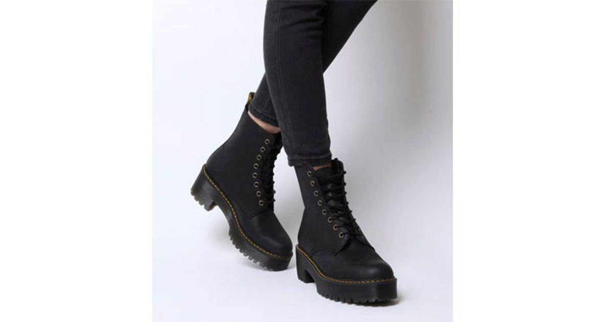 Dr. Martens Shriver Hi Lace Boot in Black - Lyst fb1e927552