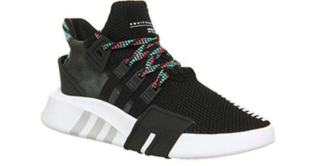 adidas Rubber Eqt Basket Adv in Black