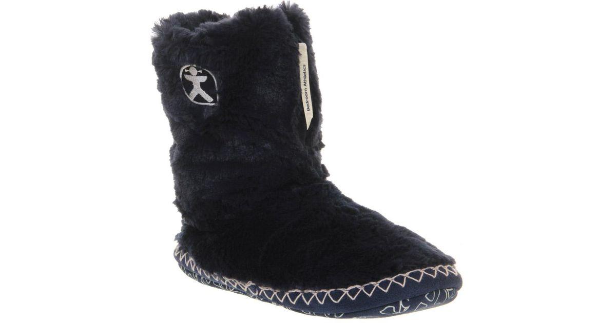 Bedroom Athletics Marilyn Iii Slipper Boots In Navy Black Lyst