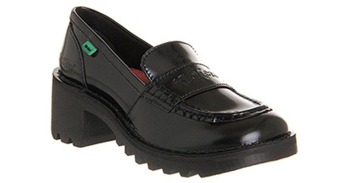 Kickers Leather Kopey Loafers in Black