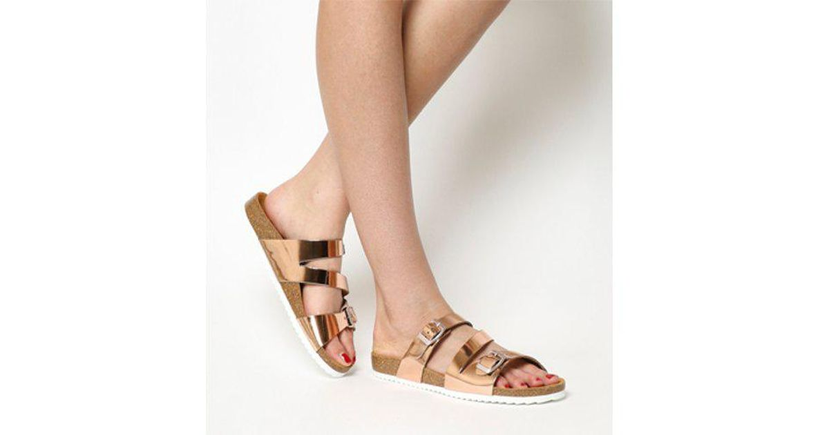 56028ce6c0c5 Lyst - Office Bounty Cross Strap Footbed