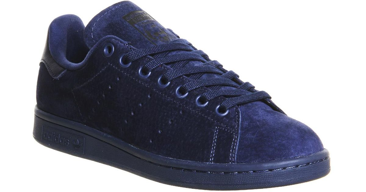 Lyst - adidas Stan Smith Suede Sneakers - Blue in Blue for Men 7096297d9