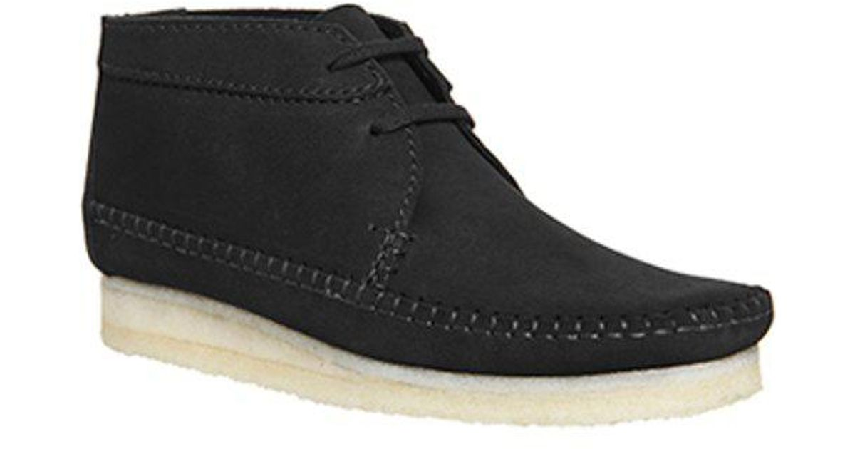 Clarks Suede Weaver Boot in Black for