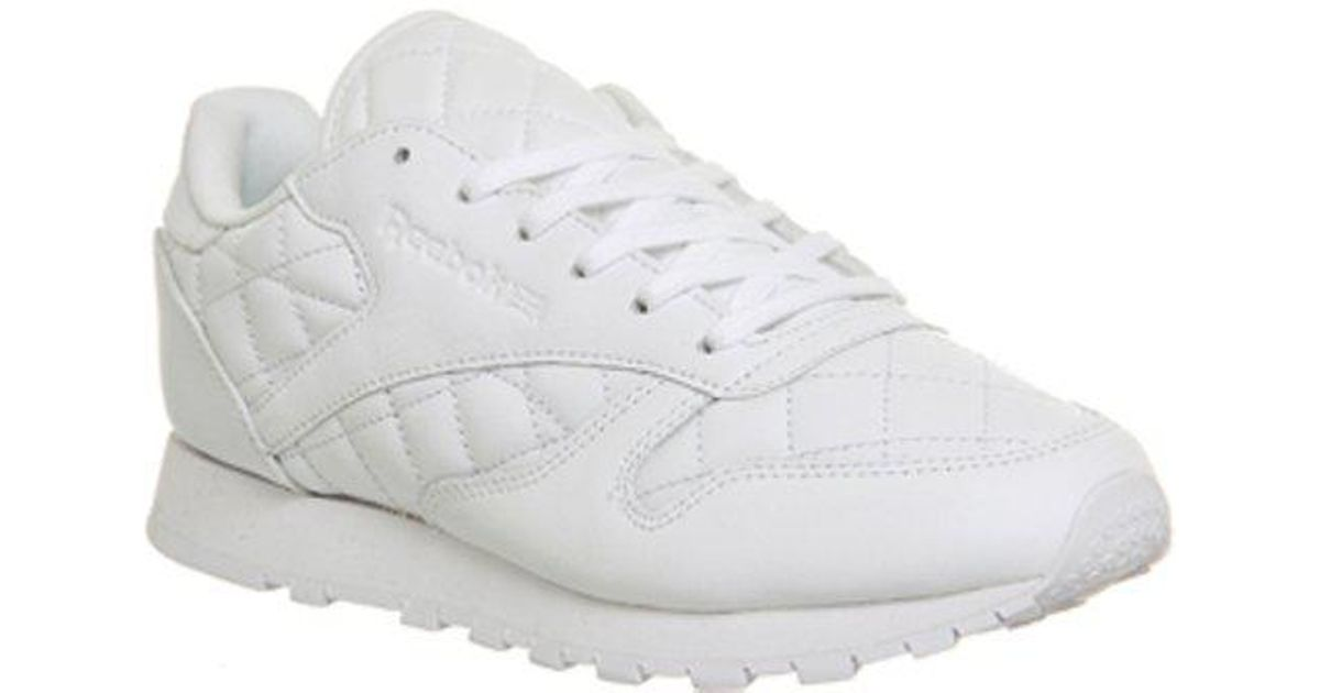 Reebok Classic Leather (w) in White - Lyst 3093ff905