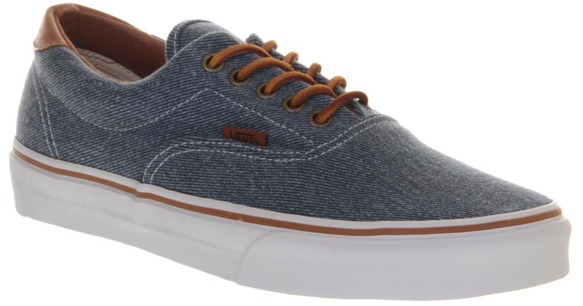 Lyst - Vans Era 59 Blue Washed Twill Exclusive in Blue for Men 63d131c12