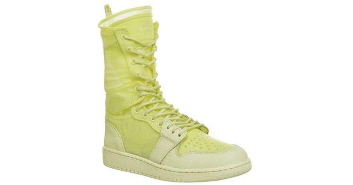 huge discount 6f2e7 c2463 Nike Yellow Jordan Air Jordan 1 Explorer